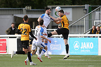 Havant's Joe Quigley heads the ball towards the Maidstone goal during Maidstone United vs Havant and Waterlooville, Vanarama National League Football at the Gallagher Stadium on 9th March 2019