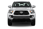 Car photography straight front view of a 2016 Toyota Tacoma SR5 4 Door Pickup Front View