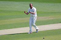 Luke Fletcher of Notts celebrates taking the wicket of Simon Harmer during Essex CCC vs Nottinghamshire CCC, Specsavers County Championship Division 1 Cricket at The Cloudfm County Ground on 15th May 2019