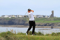 Alan Lowry (Esker Hills) on the 12th tee during Round 3 of The South of Ireland in Lahinch Golf Club on Monday 28th July 2014.<br /> Picture:  Thos Caffrey / www.golffile.ie