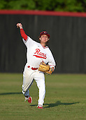 Lake Mary Rams outfielder Joseph Pesce (4) during practice before a game against the Lake Brantley Patriots on April 2, 2015 at Allen Tuttle Field in Lake Mary, Florida.  Lake Brantley defeated Lake Mary 10-5.  (Mike Janes Photography)