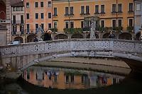 Piazza bridge & sunset reflections at Padua,Italy