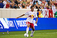 Tim Cahill (17) of the New York Red Bulls. The New York Red Bulls defeated the Houston Dynamo 2-0 during a Major League Soccer (MLS) match at Red Bull Arena in Harrison, NJ, on August 10, 2012.