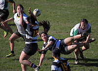 Action from the Victoria Tavern Wellington women's premier club rugby final between Oriental-Rongotai and Old Boys University at Petobe Rec in Wellington, New Zealand on Saturday, 5 August 2017. Photo: Dave Lintott / lintottphoto.co.nz