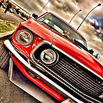 Red Ford Mustang in the USA