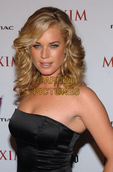 REBECCA ROMIJN .Maxim Magazine's 8th Annual Hot 100 Party at Gansevoort Hotel, New York City, New York, USA..May 16th, 2007.half length black strapless satin dress .CAP/ADM/BL.©Bill Lyons/AdMedia/Capital Pictures *** Local Caption ***