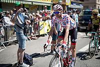 Polka Dot Jersey / KOM leader Tim Wellens (BEL/Lotto-Soudal) at the race start in Saint-Dié-des-Vosges<br /> <br /> Stage 5: Saint-Dié-des-Vosges to Colmar(175km)<br /> 106th Tour de France 2019 (2.UWT)<br /> <br /> ©kramon
