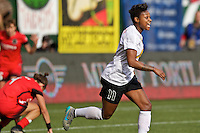 Portland, Oregon - Sunday October 2, 2016: Western New York Flash defender Taylor Smith (11) celebrates after a goal during a semi final match of the National Women's Soccer League (NWSL) at Providence Park.