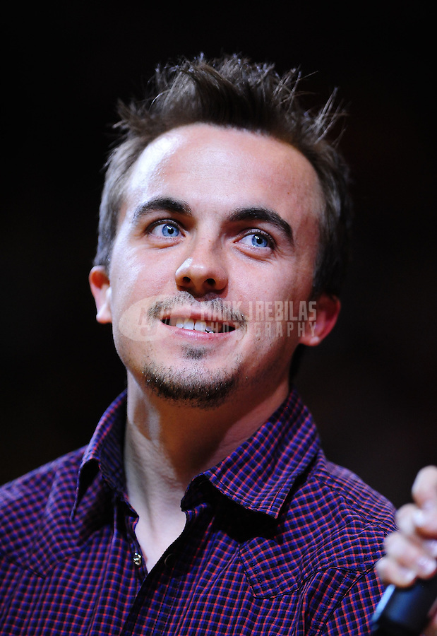 Mar. 2, 2012; Phoenix, AZ, USA; Television actor Frankie Muniz in attendance of the game between the Los Angeles Clippers against the Phoenix Suns at the US Airways Center. The Suns defeated the Clippers 81-78. Mandatory Credit: Mark J. Rebilas-USA TODAY Sports