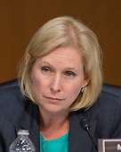 United States Senator Kirsten Gillibrand (Democrat of New York) asks questions of U.S. Secretary of Defense Chuck Hagel and Chairman, Joint Chiefs of Staff General Martin E. Dempsey, U.S. Army, as they deliver testimony before the U.S. Senate Committee on Armed Services on the U.S. policy towards Iraq and Syria and the threat posed by the Islamic State of Iraq and the Levant (ISIL) in Washington, D.C. on Tuesday, September 16, 2014.<br /> Credit: Ron Sachs / CNP