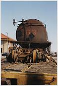 End view of tank car #63 at Alamosa.<br /> C&amp;TS  Alamosa, CO