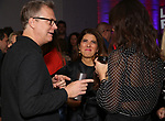 """Peter Hedges, Marisa Tomei and Katie Holmes attends MCC Theater's Inaugural All-Star  """"Let's Play! Celebrity Game Night"""" at the Garage on November 03, 2019 in New York City."""