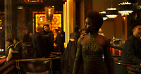 Black Panther (2018)<br /> Nakia (Lupita Nyong'o).<br /> *Filmstill - Editorial Use Only*<br /> CAP/KFS<br /> Image supplied by Capital Pictures