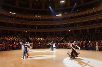 Arunas Bizokas and Katusha Demidova of USA perform their dance during the International Championships held at the Royal Albert Hall in London, United Kingdom on October 13, 2011. ATTILA VOLGYI