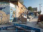 Muraleando Community Art project, centered on old water tank originally for steam locomotives hauling sugar cane