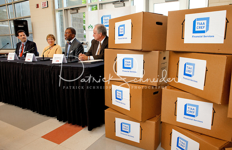 TIAA-CREF Governor's Village Partnership Launch at Vance High School, Thursday morning August 18, 2011...Photography by: Patrick Schneider Photo.com