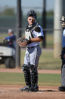 Chicago White Sox catcher Jeremy Dowdy (26) during an Instructional League game against the Los Angeles Dodgers on October 12, 2013 at Camelback Ranch Complex in Glendale, Arizona.  (Mike Janes/Four Seam Images)
