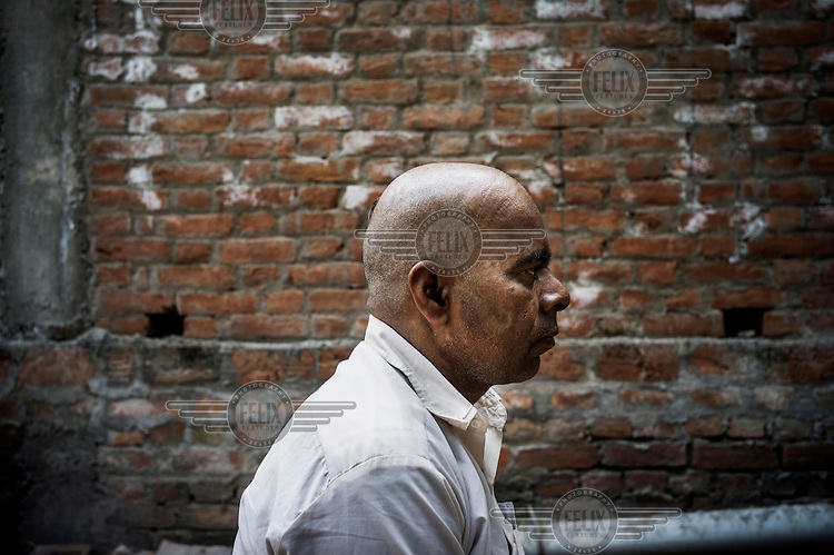 53 year old Badrinath Singh at his ancestral home in Medawar Kalan. He is the father of a young woman who, along with a male friend, were attacked on a bus in south Delhi on 16 December 2012. His daughter was brutally raped and died of her injuries two weeks later.