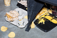Discarded food is seen on the floor of the arena after the final match at a WWE Live Summerslam Heatwave Tour event at the MassMutual Center in Springfield, Massachusetts, USA, on Mon., Aug. 14, 2017.