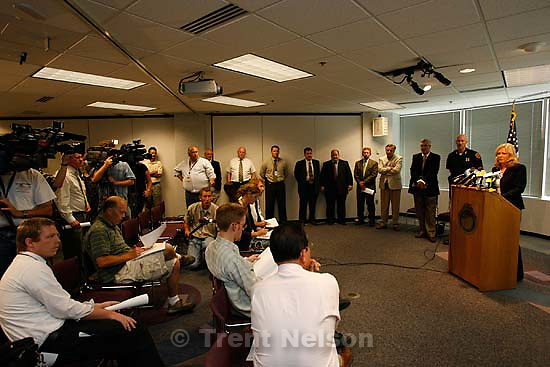 Salt Lake County - District Attorney Lohra Miller announces the filing of nine felony charges against Curtis Allgier, who allegedly shot and killed Corrections Officer Stephen Anderson in an escape attempt.  ; 6.28.2007