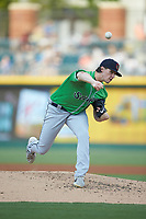 Gwinnett Braves starting pitcher Kyle Wright (30) delivers a pitch to the plate against the Charlotte Knights at BB&T BallPark on July 12, 2019 in Charlotte, North Carolina. The Stripers defeated the Knights 9-3. (Brian Westerholt/Four Seam Images)