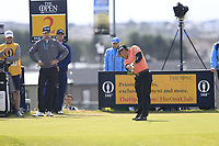 Yoshinori Fujimoto (JPN) tees off the 2nd tee during Thursday's Round 1 of the 148th Open Championship, Royal Portrush Golf Club, Portrush, County Antrim, Northern Ireland. 18/07/2019.<br /> Picture Eoin Clarke / Golffile.ie<br /> <br /> All photo usage must carry mandatory copyright credit (© Golffile | Eoin Clarke)