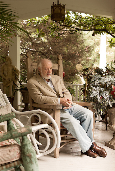 "August 19, 2013. Hillsborough, North Carolina.<br />  Author Allan Gurganus, photographed at his home, has a new novel ""Local Souls"" being released in September."