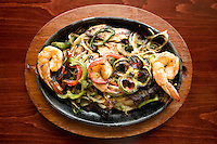 Combo fajitas with chicken, jumbo shrimp, and beef at Jorge's Tex-Mex Cafe in the One Arts Plaza in Dallas, Texas, Wednesday, November 12, 2008. Jorge's opened August 27...MATT NAGER/ SPECIAL CONTRIBUTOR