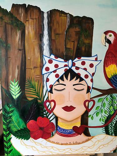"""Belleza Inmutable"" de Analy Silva, representando a su país, Venezuela."