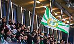 Stockholm 2014-11-29 Bandy Elitserien Hammarby IF - IK Sirius :  <br /> Hammarbys supportrar med en flagga under matchen mellan Hammarby IF och IK Sirius <br /> (Foto: Kenta J&ouml;nsson) Nyckelord:  Elitserien Bandy Zinkensdamms IP Zinkensdamm Zinken Hammarby Bajen HIF HeIF Sirius IKS utomhus exteri&ouml;r exterior supporter fans publik supporters