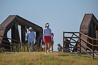 Georgia Hall (ENG) makes her way across the bridge near the tee on 2 during the round 3 of the Volunteers of America Texas Classic, the Old American Golf Club, The Colony, Texas, USA. 10/5/2019.<br /> Picture: Golffile   Ken Murray<br /> <br /> <br /> All photo usage must carry mandatory copyright credit (© Golffile   Ken Murray)