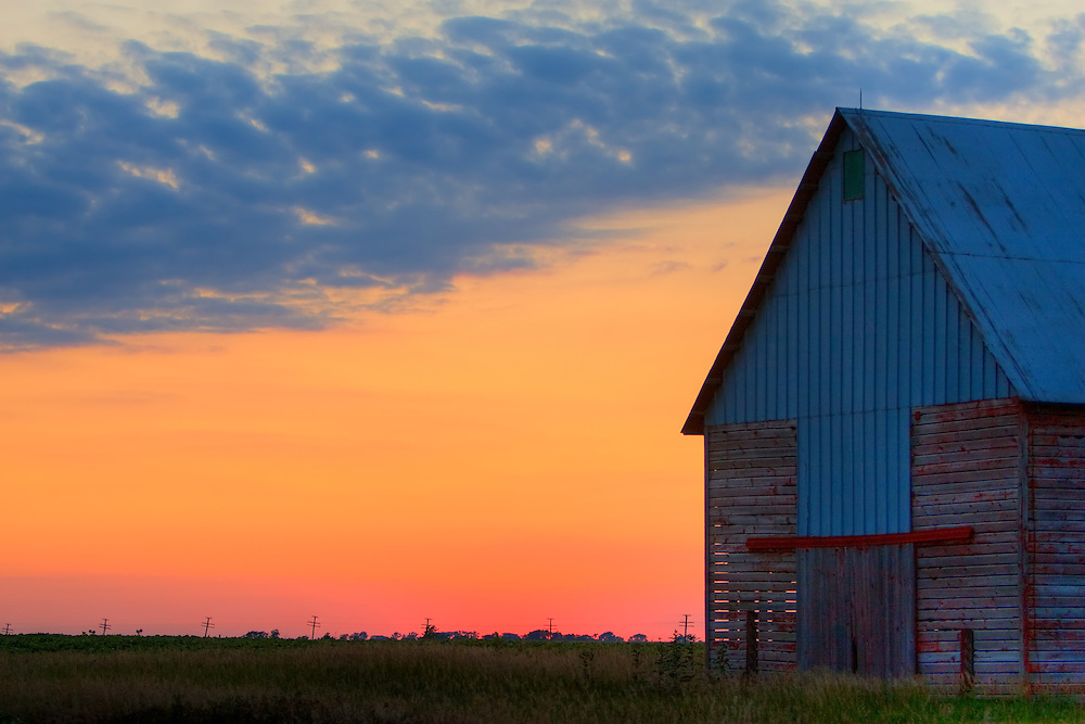 Old Barn Sunset Photography By Nick Suydam