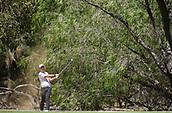 10th February 2018, Lake Karrinyup Country Club, Karrinyup, Australia; ISPS HANDA World Super 6 Perth golf, third round; Lucas Herbert (AUS) plays a shot
