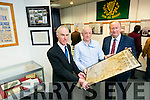 Leas-Cathaoirleach of Kerry County Council, Cllr Jim Finucane launched an Exhibition entitled 'Kerry 1916' from the Archives', at the Kerry county Library  Tralee on Tuesday. Pictured here with County Librarian Tommy O'Connor,  Tralee Library Archivist, Michael Lynch, Cllr Jim Finucane