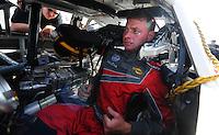 May 2, 2008; Richmond, VA, USA; NASCAR Nationwide Series driver Kertus Davis during the Lipton Tea 250 at the Richmond International Raceway. Mandatory Credit: Mark J. Rebilas-