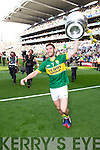 Killian Young celebrates after defeating Donegal in the GAA All Ireland Senior Football Championship final.