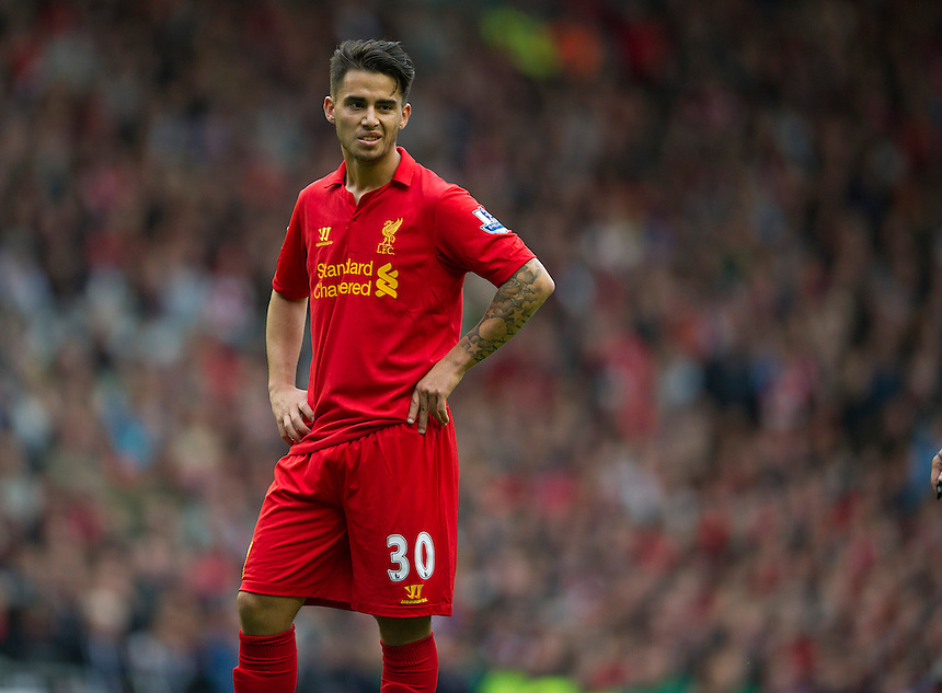 Liverpool's Suso ..Football - Barclays Premiership - Liverpool v Manchester United - Sunday 23rd September 2012 - Anfield - Liverpool..