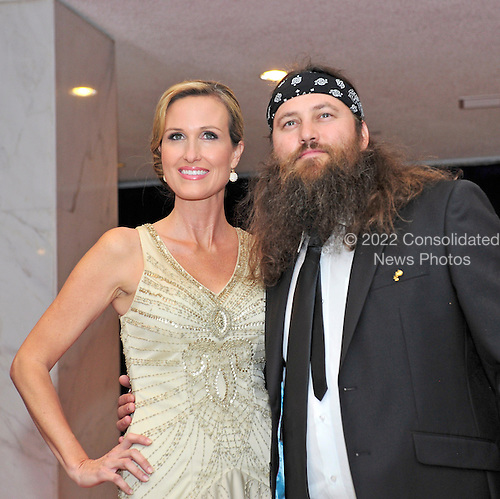 Willie Robertson and Korie Robertson arrives for the 2013 White House Correspondents Association Annual Dinner at the Washington Hilton Hotel on Saturday, April 27, 2013..Credit: Ron Sachs / CNP.(RESTRICTION: NO New York or New Jersey Newspapers or newspapers within a 75 mile radius of New York City)
