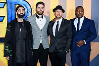LONDON, ENGLAND - FEBRUARY 8: Rudimental arrives at the 'Black Panther' European premiere at the Eventim Apollo, on February 8th, 2018 in London, England. <br /> CAP/JC<br /> &copy;JC/Capital Pictures
