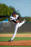 New York Yankees pitcher Luis Medina (30) delivers a pitch during an Instructional League game against the Baltimore Orioles on September 23, 2017 at the Yankees Minor League Complex in Tampa, Florida.  (Mike Janes/Four Seam Images)