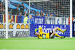 Stockholm 2014-03-09 Fotboll Svenska Cupen Djurg&aring;rdens IF - Assyriska FF :  <br /> Djurg&aring;rdens Andreas Johansson g&ouml;r 2-0 p&aring; straff bakom Assyriskas m&aring;lvakt Robin Malmkvist <br /> (Foto: Kenta J&ouml;nsson) Nyckelord:  Djurg&aring;rden jubel gl&auml;dje lycka glad happy depp besviken besvikelse sorg ledsen deppig nedst&auml;md uppgiven sad disappointment disappointed dejected