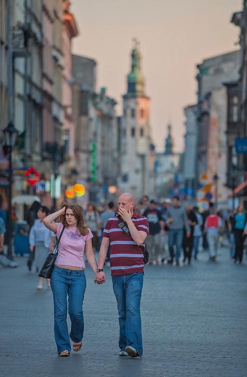 Ulica Grodzka w Krakowie.<br /> Grodzka Street in Cracow.