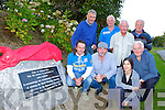 An Riocht unvailed a plaque to John Lenihan to acknowledge the achievement on winning the World Mountain running championships on the Matterhorn mounitain in the Swiss Alps in 1991 last Monday evening on a hill built in the town park front row l-r: John Lenihan, Mike and Clare O'Shea, Joe Walsh. Back row: Denny McSweeney, Ger Walsh, Denis Brosnan and John Begley