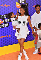 Russell Wilson, Ciara, Sienna Princess Wilson & Future Zahir Wilburn at the Nickelodeon Kids' Choice Sports Awards 2018 at Barker Hangar, Santa Monica, USA 19 July 2018<br /> Picture: Paul Smith/Featureflash/SilverHub 0208 004 5359 sales@silverhubmedia.com