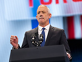 General Benny Gantz, a candidate for Prime Minister of Israel from the Blue and White Party, speaks at the American Israel Public Affairs Committee (AIPAC) 2019 Policy Conference at the Washington Convention Center in Washington, DC on Monday, March 25, 2019.<br /> Credit: Ron Sachs / CNP<br /> (RESTRICTION: NO New York or New Jersey Newspapers or newspapers within a 75 mile radius of New York City)