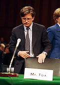 Actor Michael J. Fox prepares to testify before the United States Senate Appropriations Subcommittee on Labor, Health and Human Services, and Education on September 28, 1999.   Fox, who suffers from Parkinson's Disease, testified on the need for funding further research and treatment of the disease..Credit: Ron Sachs / CNP