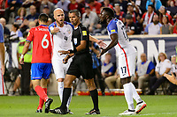 Harrison, NJ - Friday Sept. 01, 2017: Michael Bradley, John Pitti, Jozy Altidore during a 2017 FIFA World Cup Qualifier between the United States (USA) and Costa Rica (CRC) at Red Bull Arena.