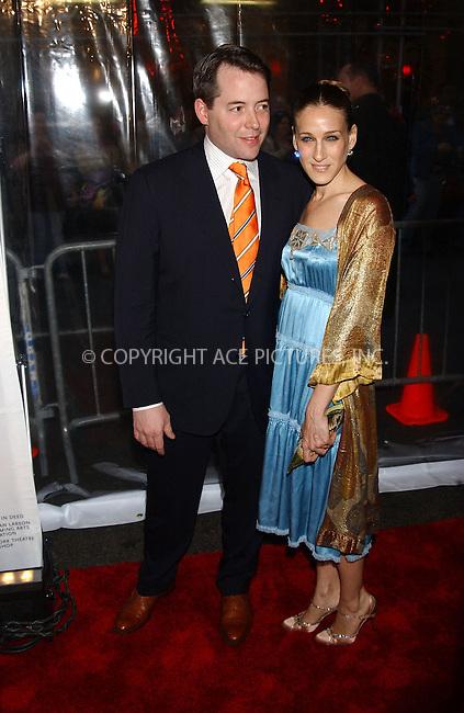 "WWW.ACEPIXS.COM . . . . . ....April 24, 2006  New York City....Matthew Broderick and Sarah Jessica Parker..""Rent"" Celebrates 10th Anniversary on Broadway ....Please byline: KRISTIN CALLAHAN - ACEPIXS.COM.. . . . . . ..Ace Pictures, Inc:  ..(212) 243-8787 or (646) 679 0430..e-mail: picturedesk@acepixs.com..web: http://www.acepixs.com"