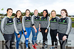 Kerry LGFA football stars, Amanda Brosnan, Ciara Murphy, Erica McGlynn, Robyn White, Aisling Desmond, Sinead Ryan and Sarah Murphy attending the Kerry Ladies Night of the Dogs at the Greyhound Track on Saturday night.