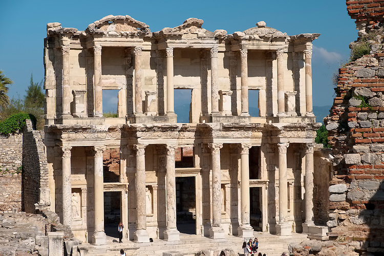 The Library of Celsus is the main attraction at Ephesus and is also the notable icon for the country of Turkey.